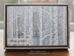 Woodland embossing folder gift box using Always Grateful stamp set from CTMH