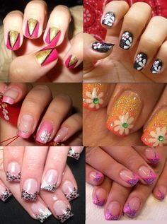 Cool and funky nail art designs - Who wants plain boring nails anymore? So girls go funky and creative with your short nails! Experiment and try different things on your nails and go crazy with colours.
