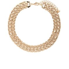 Forever21 Chain Link Choker ($6.90) ❤ liked on Polyvore featuring jewelry, necklaces, gold, chain link necklaces, chain link choker, gold chain link necklace, yellow gold necklace and forever 21 choker