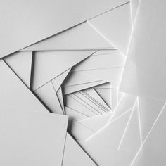 looking deeper contemporary minimalist abstract paper art sculpture painting with canvas the creation of line, shadow and light through the works growing layers gives the work its depth and meaning Architecture Origami, Architecture Models, Architecture Design, Origami White, Plakat Design, Abstract Paper, Grafik Design, Geometric Art, Textures Patterns
