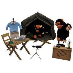 Dr. Jane Goodall Inspired Gombe Research Camp Doll Clothes & Accessories For 18-inch Dolls