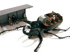 Micromachina by Scott Bain, stunning dioramas obtained using real taxidermy beetles as mechanised shells. Think Small, Insect Art, Faux Taxidermy, Tiny World, Small Sculptures, Science And Nature, Cool Designs, Illustration Art, The Incredibles