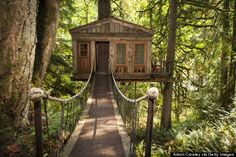 A wonderful place to visit and delight your inner child... Treehouse Point outside #Seattle and stay in a treehouse #hotel.