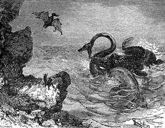 Édouard Riou, Voyage au centre de la Terre (Journey to the Center of the Earth), Jules Verne, 1864.