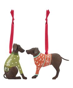 Take a look at this Sweater Lab Ornament - Set of Two by Foreside on #zulily today!