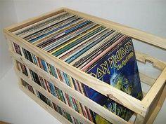 "Wooden Vinyl Record LP Storage Crate 18"" | eBay"