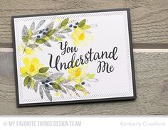 Modern Blooms, True Friend, Inside & Out Diagonal Stitched Rectangle STAX Die-namics - Kimberly Crawford  #mftstamps