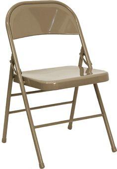Bon Brown Metal Folding Chairs
