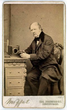 John Moffat, 1864, 'William Henry Fox Talbot with camera and lens' #photographer