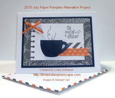 A Cup of Cheer ... 2015 July Paper Pumpkin Alternative Project.  http://lindasstampinescape.com