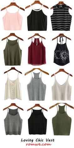 Loving chic vests - romwe.com