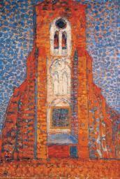 Piet Mondrian 'Sun, Church in Zeeland; Zoutelande Church Facade', 1909–10
