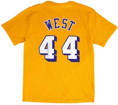 Mitchell  amp  Ness Men s Jerry West Los Angeles Lakers Hardwood Classic  Player T-Shirt a85eff459