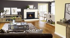 home decor color palette - interior color schemes, combination Brown And Blue Living Room, Living Room Grey, Small Living Rooms, Living Room Decor, Modern Living, Accent Walls In Living Room, Living Room Color Schemes, Paint Colors For Living Room, Room Paint
