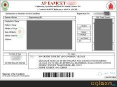 AP EAMCET 2019 Hall Ticket - Download EAMCET Admit Card | AglaSem