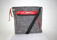 taška Prestige šedo-červená