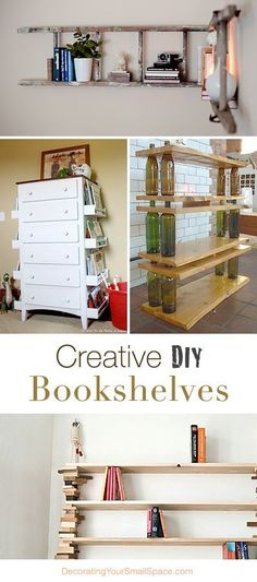 Diy Crafts Ideas : Creative DIY Bookshelves  Great Ideas  Tutorials!