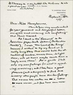 Tolkien's handwriting.