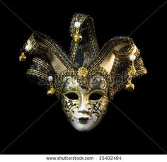 european masks | Traditional Venetian Mask With Golden Decoration Stock Photo 35402494 ...