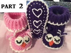 Baby Knitting Patterns Slippers Crochet & knit slippers – FREE tutorial – owl slippers – baby – wool part 1 www…. Baby Slippers, Knitted Slippers, Yarn Projects, Crochet Projects, Knitted Owl, Crochet Baby Booties, Crochet Shoes, Crochet Videos, Baby Knitting Patterns
