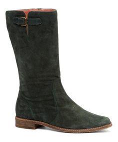 Look what I found on #zulily! Forest Spanish Suede Buckle Boot #zulilyfinds