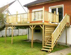Terrasse Bois En Kit à Monter Soi Même In And Out Pinterest - Terrasse sur pilotis en bois
