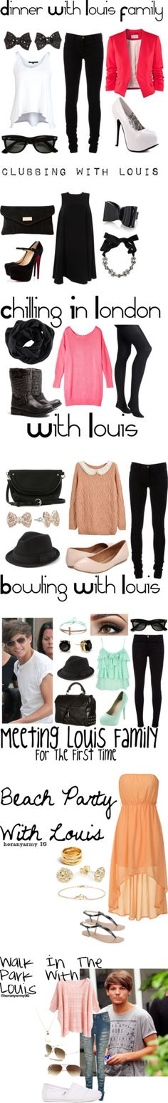"""""""Directioner Outfits - Louis Tomlinson"""" by bananaaaa ❤ liked on Polyvore"""