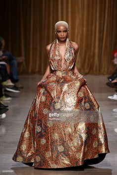 The Angolan fashion designer Nadir Tati presents the Spring/Summer 2016 creations during Lisbon Fashion Week - Moda Lisboa The Timers at the Patio da Gale on Terreiro do Paco Square in Lisbon on October 11, 2015.