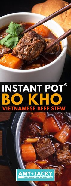 vietnamese instant tested jacky beef stew pot kho amy bo by Instant Pot Bo Kho Vietnamese Beef Stew Tested by Amy JackyYou can find Beef stew instant pot and more on our website Instant Pot Asian Recipes, Instant Pot Beef Stew Recipe, Pot Recipe, Recipe Ideas, Beef Bourguignon, Pressure Cooker Beef Stew, Asian Pressure Cooker Recipes, Pressure Cooking, Easy Beef Stew