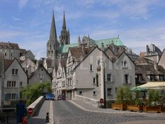 Historic city of Chartres, France.