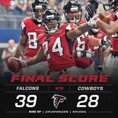They do it again! Falcons Football, Football Helmets, Atlanta Falcons Rise Up, Georgia Girls, Cowboys, Sports, Cowgirls, Birds, Fan