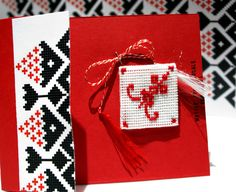 Risultati immagini per Martisoare/traditionale Baba Marta, Folk Embroidery, Advent Calendar, Marie, Projects To Try, Cross Stitch, Gift Wrapping, Holiday Decor, Crochet