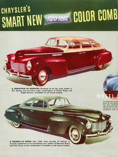 1940 Chrysler Coupe and Sedan
