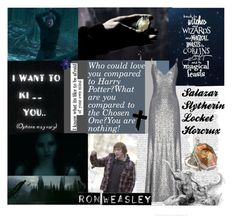"""""""Ron Weasley's Enemy-Salazar Slytherin's Locket Horcrux"""" by daisy414 ❤ liked on Polyvore featuring art"""