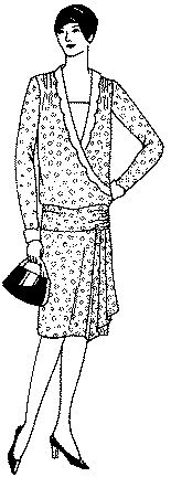 Past Patterns: #9895: Ladies'and Misses' Slip-on Dress: Circa 1928-1929