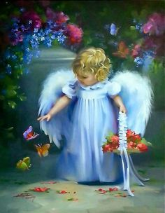 Blue Wings Angel baby Angel with blue Wings Baby Engel, Raindrops And Roses, I Believe In Angels, Ange Demon, Angel Pictures, Beautiful Angels Pictures, Angels Among Us, Angels In Heaven, Guardian Angels