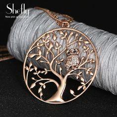 Owl Pendant Necklace Jewelry Accessory