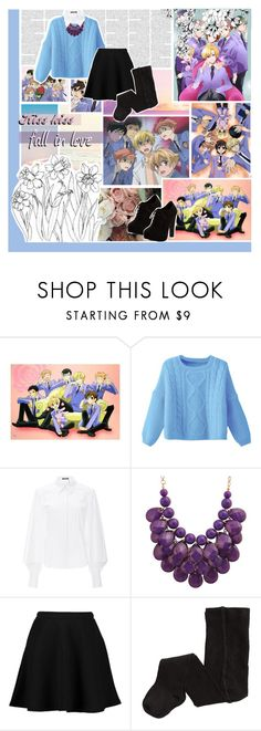 """""""Casual Cosplay: Ouran High School Host Club"""" by phaedra-solaris ❤ liked on Polyvore featuring Zac Posen, Boohoo, H&M and New Look"""