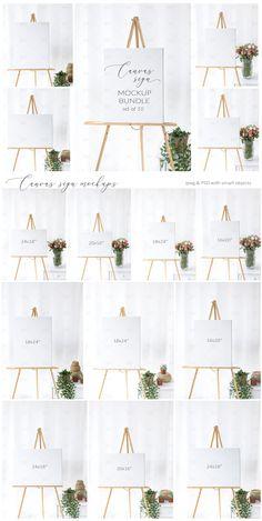 Elegant Wedding Sign Mockup Bundle Freemediaresizeedit