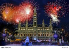 Fireworks over City Hall, New Year's Eve, Vienna Oman Travel, Greece Travel, Hawaii Travel, City Breaks Europe, Holiday Destinations, Australia Travel, New Years Eve, Budapest, Fireworks