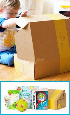 Citrus Lane A Great Gift Idea For Kids Open Surprise Package Every Month With Subscription To Each Youll Receive Box Of Baby