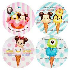 Mickey & Friends Tsum Tsum Ice Cream Plates