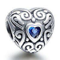 7994c46b5 September Blue Heart Birthstone Charm. Pandora Heart CharmPandora  JewelryPandora ...