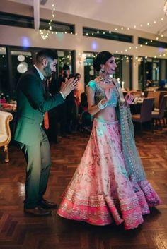 Inderpreet + Simran: A Vintage Fairytale Engagement in Melbourne - exquisite engagement - Anushree Reddy lehenga - Amrapali jewels earrings - pastel pink and green lehenga - pre wedding photo shoot - Indian wedding - Indian engagement - engagement photo shoot #thecrimsonbride