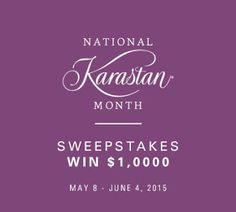 I just entered the National @Karastan Month Sale #Sweepstakes for a chance to win up to $1000.  #livebeautifully