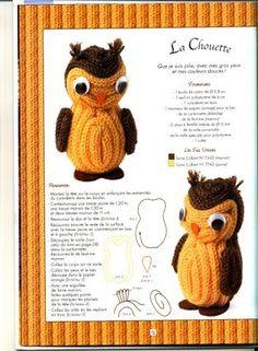 Chouette en tricotin