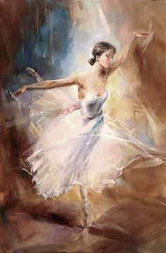 Ballet....so beautiful! I wish I knew who painted this. Amazing...