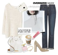 """Oversized Sweater"" by rever-de-paris ❤ liked on Polyvore featuring H&M, MANGO, Paige Denim, GET LOST, Marc by Marc Jacobs, Gianvito Rossi, Lancôme, Michael Kors, Loren Stewart and autumn"