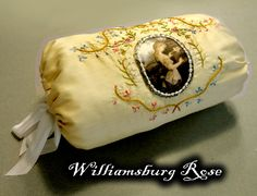 Lady's Silk Embroidery Muff by WilliamsburgRose on Etsy