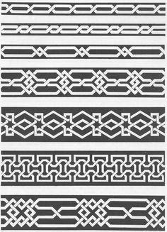 VAR 001 : Various | Pattern in Islamic Art Border Pattern, Border Design, Pattern Art, Pattern Design, Celtic Patterns, Celtic Designs, Motifs Islamiques, Islamic Art Pattern, Viking Art